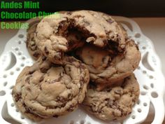 Andes Mint Chocolate Chunk Cookies: http://chezcateylou.com/2013/03/22/andes-mint-chocolate-chunk-cookies/