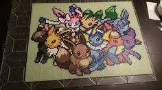 Media: Perler Beads Game: Pokemon This is a MTG playmat for my fiance! It was a request made when we first started dating years ago) that I just now completed (I know, I suck! Pyssla Pokemon, Hama Beads Pokemon, 3d Pokemon, Pokemon Craft, Diy Perler Beads, Perler Bead Art, Pikachu, Nintendo Pokemon, Hama Beads Design