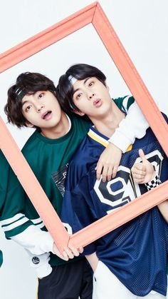 Taehyung and Jin Foto Bts, Bts Jin, Bts Taehyung, Bts Bangtan Boy, Seokjin, Namjoon, V And Jin, Les Bts, Bts Group Photos