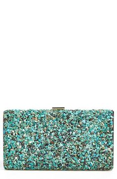 Natasha Couture Howlite Box Clutch available at #Nordstrom