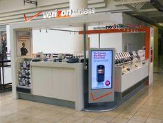 Verizon Evolution #Kiosk custom #Retail fixtures & Kiosks by Bishop Fixture + Millwork
