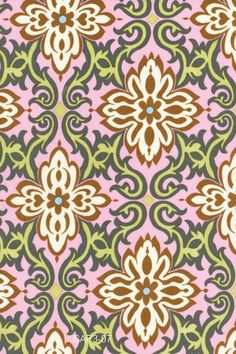 Amy Butler patterned quilting & fashion weight fabric from Lotus Tea Box series: pink / temple garden  ab-20  (limited production)