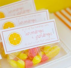Simple & Sweet Party Favour Bags with Candies - love this simple, no fuss, beautiful idea!