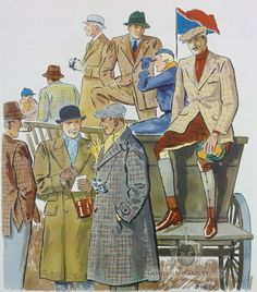Country Clothes 1930's Tweed, Jacket & Overcoats C.F Peters