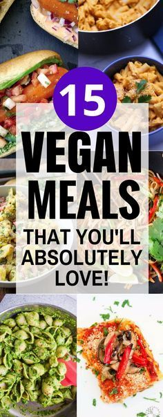 These amazing vegan meals taste so good! I'm so glad I found this list, now I can eat healthy meals that are super easy to prepare. Pinning this for sure! …