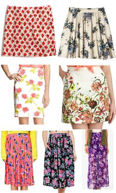 7 Sweet Floral Skirts for Summer