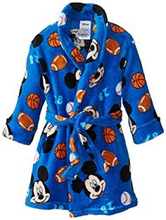 Disney Big Boys' Mickey Mouse Bathrobe in Sports Motif * You can get additional details at