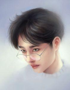 Wang Yi Bo 王一博 - men with glasses Mens Glasses, Portraits, Traditional, Portrait Paintings, Portrait, Portrait Photography