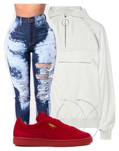 """""""Untitled #2443"""" by kayla77johnson ❤ liked on Polyvore featuring Alexander Wang, Allison Bryan and Puma"""