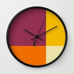 Lovely warm tone Wall Clock by ahmadfurqoni