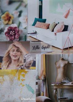 April is here....Happy April! ♥ #helloapril #happyapril #april #aprilishere #moodboard #moodboards #colorinspiration #inspirationalboards #pastel #colors #color