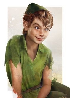 Peter Pan looks like Chris Colfer (Jirka Väätäinen illustration)