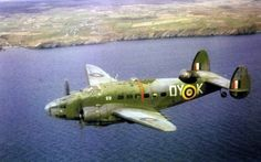 """Lockheed """"Hudson"""" coded OY - K 48 Sqn RAF, based in Wick, on patrol to search for submarines off the coast of Scotland in Navy Aircraft, Ww2 Aircraft, Military Aircraft, Raf Bases, Ww2 Planes, Aircraft Pictures, Royal Air Force, Wwii, Fighter Jets"""