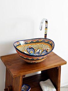 Maya - MEX 7 Aufsatzwaschbecken oval aus Mexiko von Mexambiente