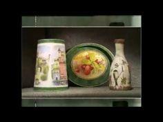Декупаж. Декорируем абажур, поднос и бутылку используя рисовую бумагу. Мастер класс - YouTube