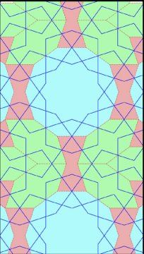 Islamic tiling graph.