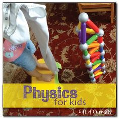 Physics for kids - use a homemade wrecking ball to knock over a tower || Gift of Curiosity