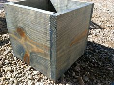 Gray Rustic Planters by nidification on Etsy