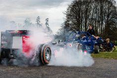 Daniel Ricciardo pits his Red Bull Racing RB8 against Bath Rugby's scrum in F1 Scrum.