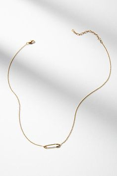 Anthropologie Safety Pin Necklace