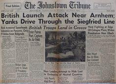 The Johnstown Tribune - World War II: October 5, 1944: British Launch Attack Near Arnhem...