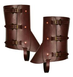 I WANT THESE!!  STEAMPUNK LEATHER GAITERS brown leather Stomper by MannAndCo, $150.00