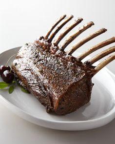 """""""Cervena"""" Venison Rib Rack at Horchow. Venison Recipes, Lamb Recipes, Fish Recipes, Gourmet Recipes, Great Recipes, Deer Recipes, Gourmet Foods, Recipies, Yummy Food"""