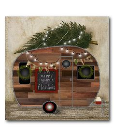 Look what I found on #zulily! 'I'm A Happy Camper At Christmas' Gallery Wrapped Canvas #zulilyfinds