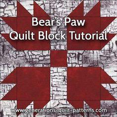 Bears Paw Quilt Block Pattern ...