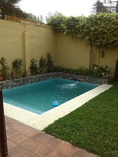 Small swimming pools are not only amazing for a small backyard, but it is also more intimate and personal. If you have a backyard available, you have two Small Inground Pool, Small Swimming Pools, Small Backyard Pools, Small Pools, Swimming Pools Backyard, Swimming Pool Designs, Pool Landscaping, Backyard Patio, Outdoor Pool