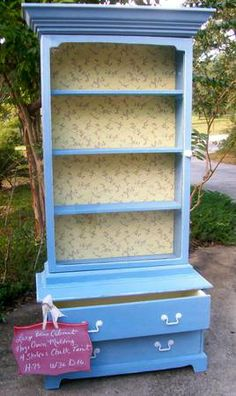 Awesome One of A Kind Curio/China Cabinet Glass Door Annie Solan Paint - $350