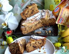 Рецепт: Банановый кекс с шоколадом Quick Bread, Banana Bread, Pound Cakes, Desserts, Recipes, Food, Tailgate Desserts, Meal, Dessert