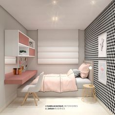 Tiny Bedroom Design, Home Room Design, Small Room Design, Girl Bedroom Designs, Study Room Decor, Room Ideas Bedroom, Small Room Bedroom, Home Decor Bedroom, Small Bedroom Interior