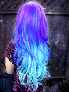Blue ombre hair gives you that sexy mermaid look. If you want to go with a fun new blue or green ombre hair style, check out these 24 sassy ombre looks! Cute Hair Colors, Pretty Hair Color, Beautiful Hair Color, Hair Dye Colors, Blue Ombre Hair, Hair Color Purple, Best Hair Colour, Vivid Hair Color, Color Blue