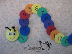 Number Caterpillar Busy Bag learning by CuriousMindsBusyBags, $6.00