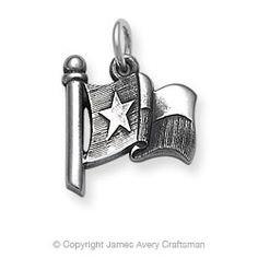 Texas flag from James Avery, Texas legend, silver designer for 58 years out of Kerrville, Texas.