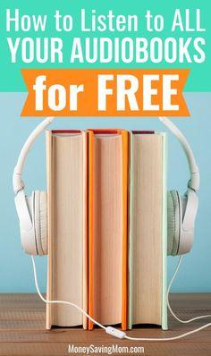 How I Listen to Audiobooks for FREE - Money Saving Mom® : Money free audio books - Books Find A Book, Living On A Budget, Frugal Living, Money Saving Mom, Budgeting Money, Book Format, Saving Ideas, Shopping Hacks, Free Money