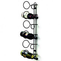 Spectrum Diversified Spectrum Diversified 6-Bottle Wall Mounted Wine Rack in Black - 48810CAT