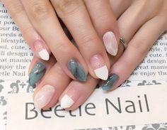 Nail Art - Beetle Nail : 八幡|大理石ネイル