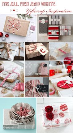 Red and White, Brown Paper, Brown Paper Packaging, Christmas Giftwrapping, Giftwrap Ideas, Giftwrap Inspiration, inspiration, Moodboard, Styling, Wrapping presents