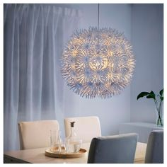 MASKROS Pendant lamp IKEA Projects decorative patterns onto the ceiling and on the wall. Affordable Furniture, Find Furniture, Lustre Ikea, Luminaire Ikea, Ikea Dorm, House Cladding, Ikea Ps, White Chandelier, Big Girl Rooms