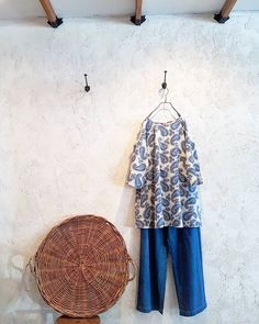 Outfit. #outfit #paisley #tunic #denimwidepants #spring #comfy #freshlook #design#fashion #style #toolz #melbourne #clothing #shop #collingwood #メルボルン #いつもと違う雰囲気 #春服
