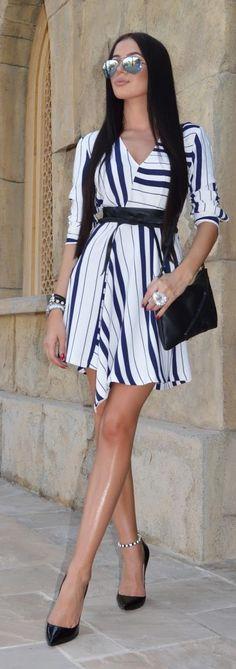Zara Striped Inspiration Dress