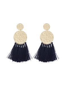 Fringe Disc Elaborate Earrings
