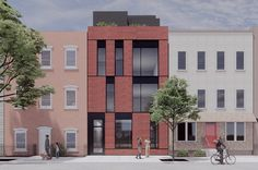 A new rendering of a proposed condominium building offers the first look at what could become of a vacant lot at 151 Freeman Street in Greenpoint, Brooklyn. Building Development, Brooklyn New York, Time Photo, Ceiling Windows, Modern Buildings, Condominium, Brick, Modern Design, The Neighbourhood