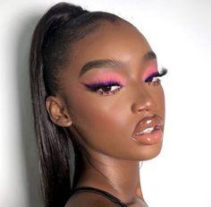 Black Makeup Looks, Asian Makeup Looks, Glitter Makeup Looks, Creative Makeup Looks, Prom Makeup Looks, Simple Makeup Looks, Black Girl Makeup, Looks Black, Halloween Makeup Looks