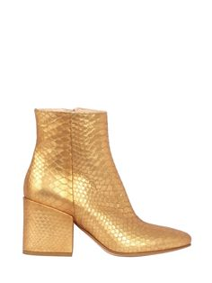 #Leather & #Gold Ankle Boots by STRATEGIA www.strategiajfk.it