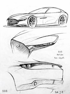 Car drawing 151118 2015 Mazda RX-vision Prisma on paper.  Kim.J.H