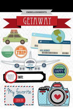 Travel Journal kaarten. Digitale Scrapbooking. Project leven.