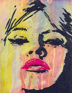 """Hot Lips"" - 11"" x 14"" Acrylic on Canvas Artwork by Jeremy Penn"